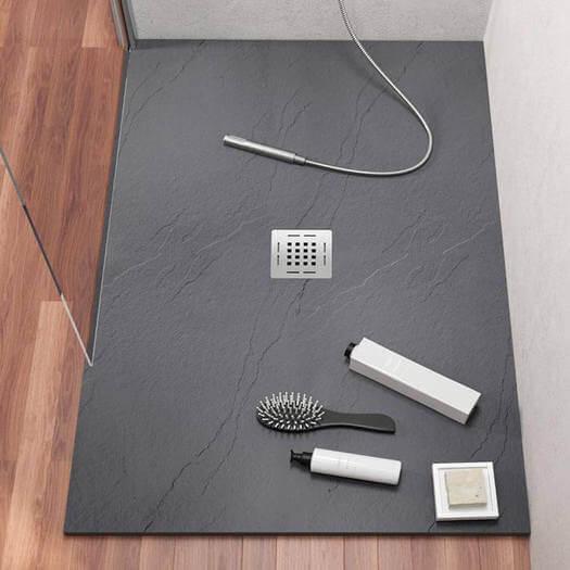 Piatto doccia e pareti in pietra sintetica – Skin