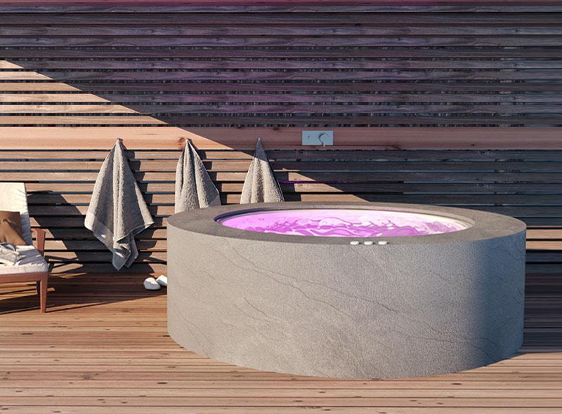 vasca da esterno rotonda