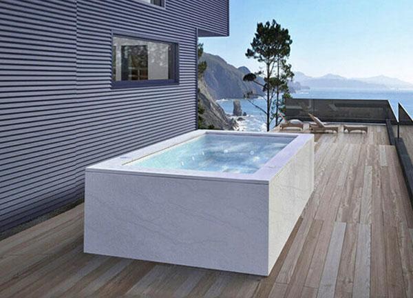 vasche idromassaggio da esterno terrazzo 6 posti