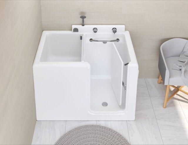 Scopri Small 100x70, una soluzione intelligente per spazi bagno ridotti. Rubinetteria e sistema di riempimento immediato® di serie.   Scopri tutte le caratteristiche delle vasche da bagno con sportello sul nostro sito.  Discover Small 100x70, a smart solution for small bathroom spaces. Taps and immediate filling system® come as standard.  Discover all the features of walk-in bathtubs on our website.  ——— #bagno #bathroom #bathroomdesign #idea #madeinitaly #artigianato #italia #anziani #disabilità #disabili #doccia #shower #arredocasa #arredamento #ristrutturazione #benessere #rsa #fisioterapia