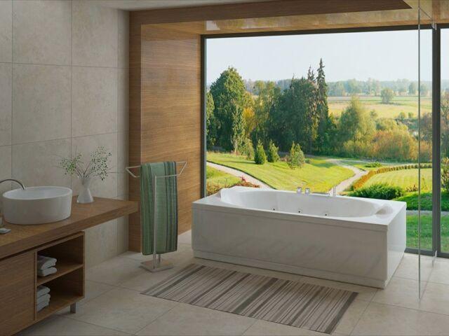 Scopri #Onyx, una vasca da bagno spaziosa 190×105, dotata di 2 poggiatesta integrati a bordo vasca per godersi in totale relax tutti i benefici dell'idromassaggio.  Discover Onyx, a spacious 190×105 bathtub, equipped with 2 integrated headrests on the edge of the tub to enjoy all the benefits of the hydromassage in total relaxation.  More on busco.it ——— #bagno #bathroomdesign #italia #idromassaggio #arredobagno #wellness #arredamento #madeinitaly #interni #artigianatoitaliano #quality #artigianato #arch #interiordesign #archidaily #architettura #architecture #furniture