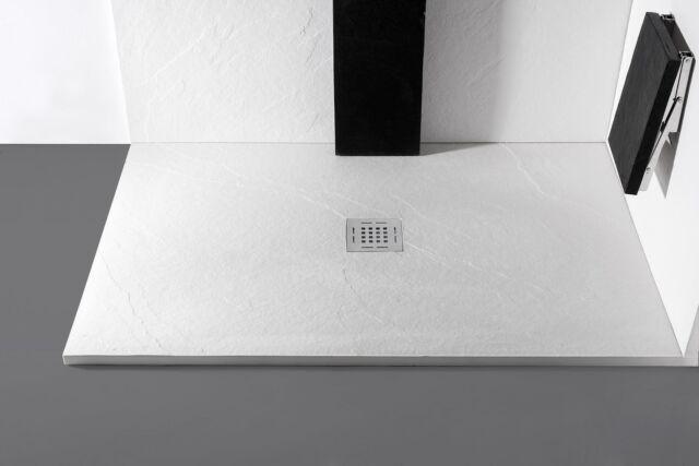I piatti doccia #Skin in pietra effetto ardesia sono composti da materiale innovativo ecosostenibile, si possono realizzare su misura e si possono tagliare sul posto.   Scopri tutte le misure e caratteristiche su busco.it  The #Skin shower trays in slate stone effect are made of innovative eco-sustainable material with excellent scratch resistance, they can be produced in all measures and can be cut on site.   Discover all the measures on busco.it ——— #doccia #shower #homedecor #arredamento #arredocasa #interiordesign #arch #architettura #architecture #madeinitaly #artigianato #material #bathroomdesign #bagno #arredobagno